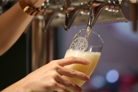 Beer, Prosecco or Wine on Tap